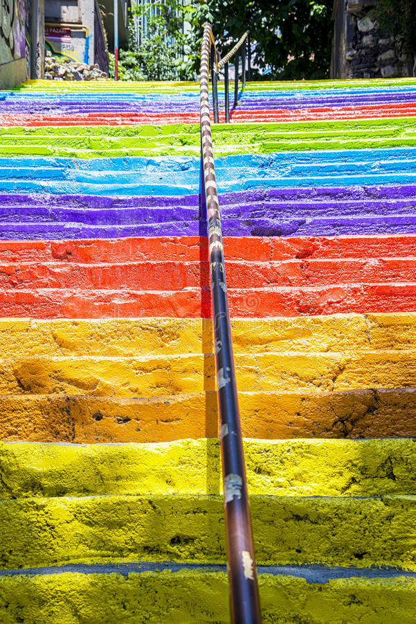 Download Escaleras Del Arco Iris De Estambul Imagen de archivo - Imagen de sueño, ciudad: 41912263