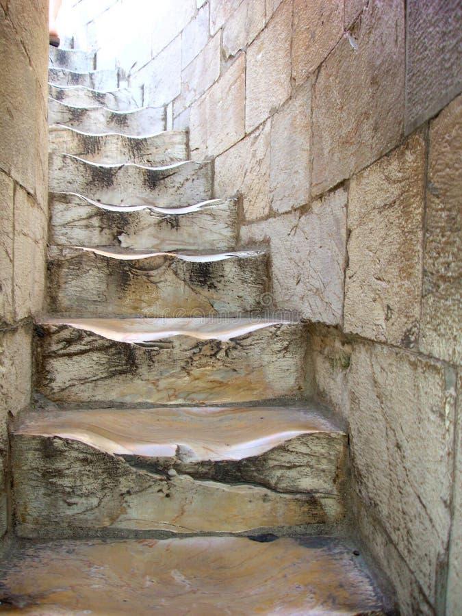 Escaleras del enrollamiento en la torre inclinada de Pisa imagen de archivo