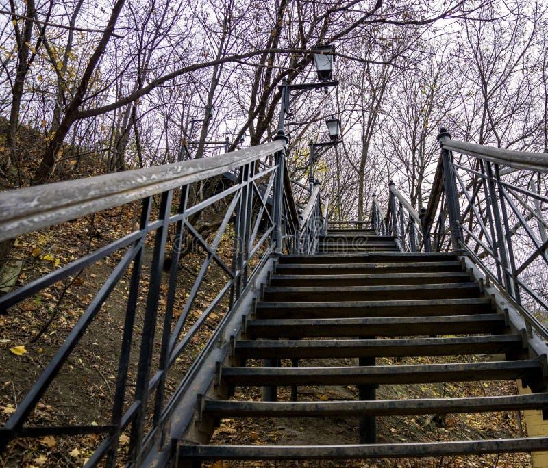 Escaleras del metal para arriba fotografía de archivo libre de regalías