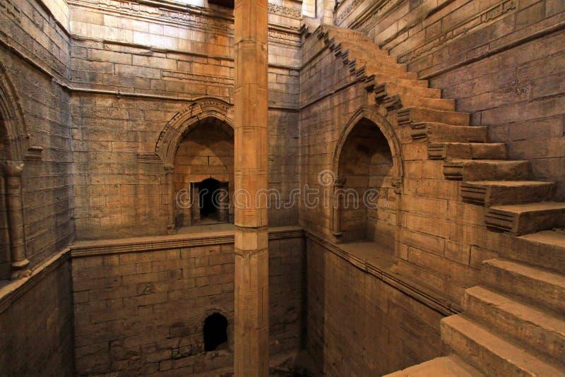 Escaleras del Nilometer fotos de archivo