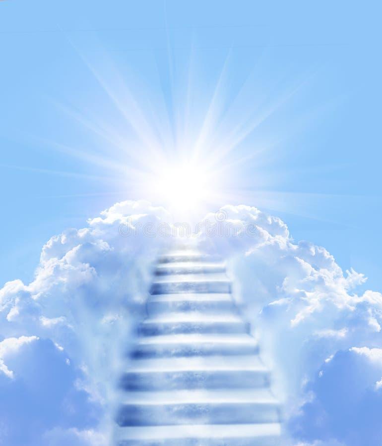 Escaleras en cielo fotografía de archivo