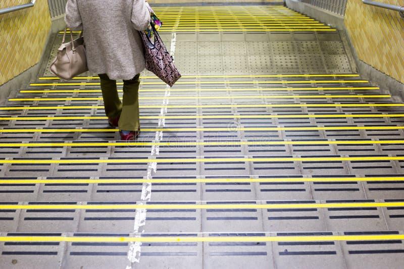 escaleras en la estaci?n de Chiba fotografía de archivo libre de regalías