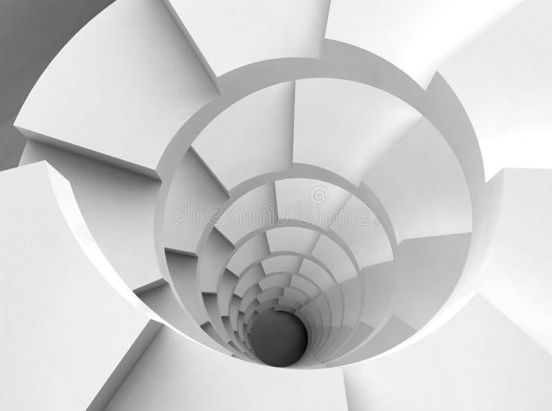 Escaleras espirales blancas ilustración del vector