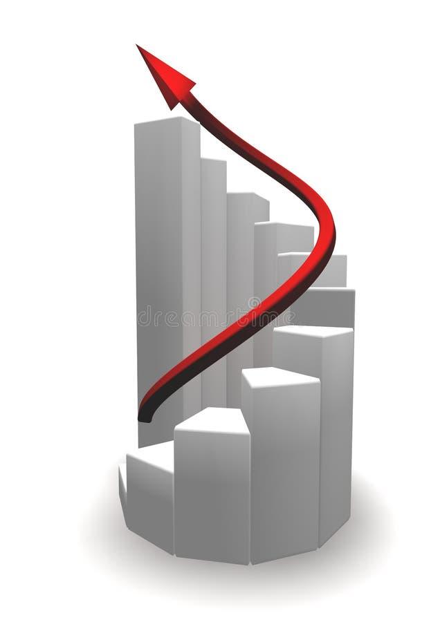 Escaleras espirales blancas al éxito libre illustration