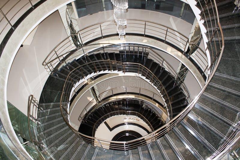 Escaleras espirales del enrollamiento fotografía de archivo