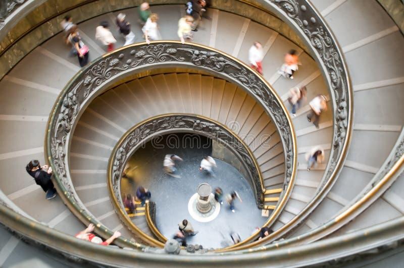 Escaleras espirales en vatican imagen de archivo