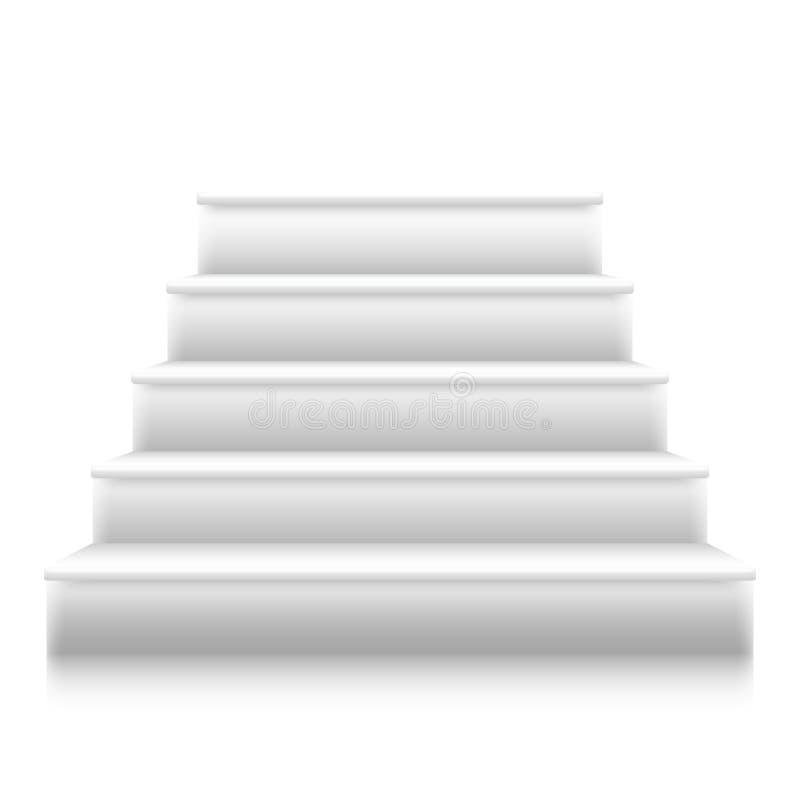 Escaleras fotorrealistas del vector a efectuar ilustración del vector