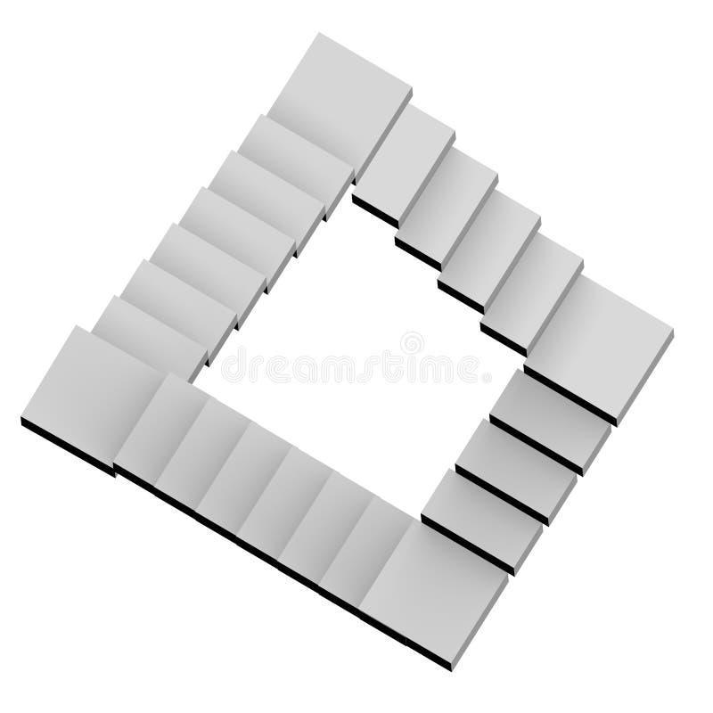 Escaleras imposibles ilustración 3D ilustración del vector