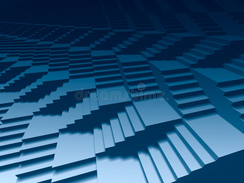 Escaleras infinitas 3d ilustración del vector