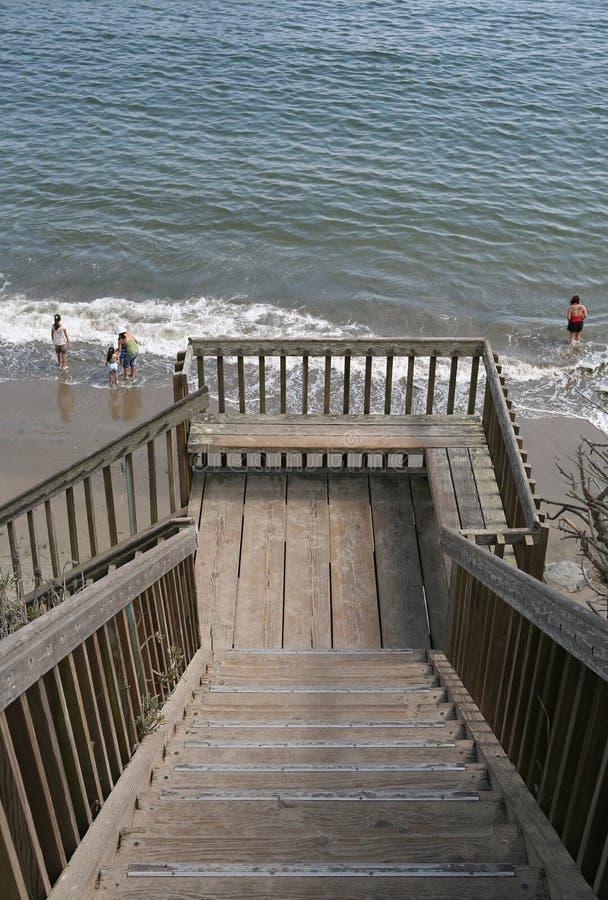 Escaleras a la playa fotografía de archivo libre de regalías