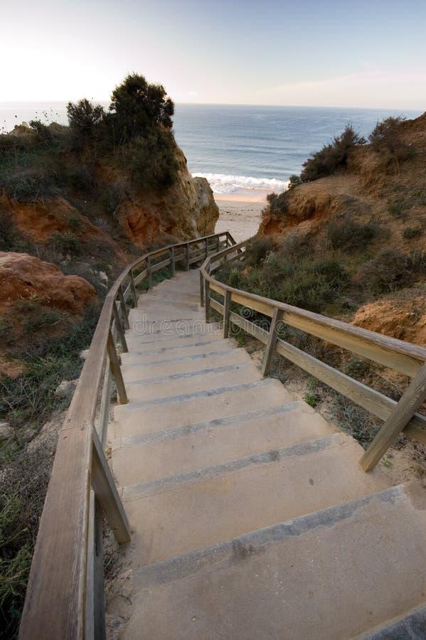 Escaleras a la playa foto de archivo