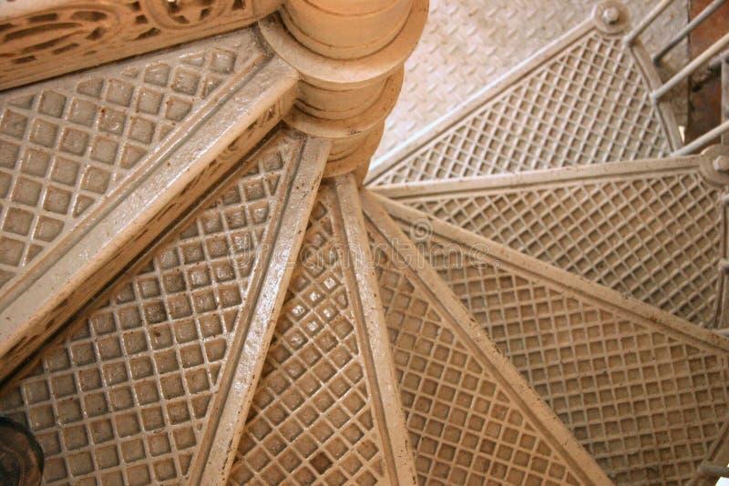 Escaleras metálicas imagen de archivo