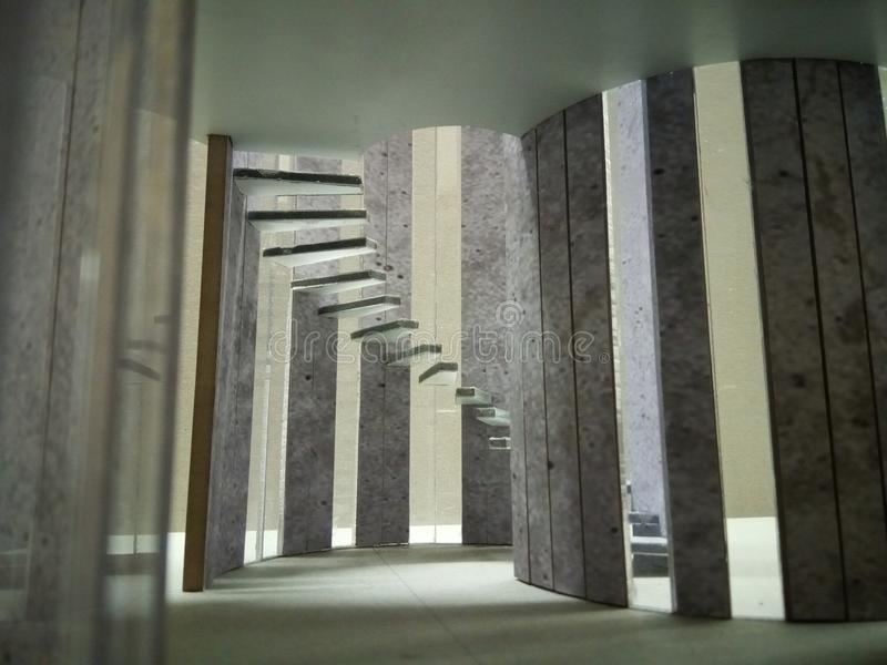 Escaleras modelo arquitectónicas imagen de archivo