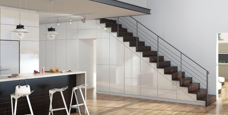 Escaleras modernas ilustración del vector