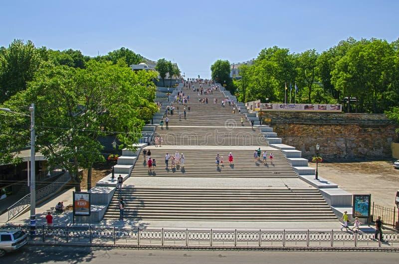 Escaleras Odessa Ukraine de Potemkin imágenes de archivo libres de regalías