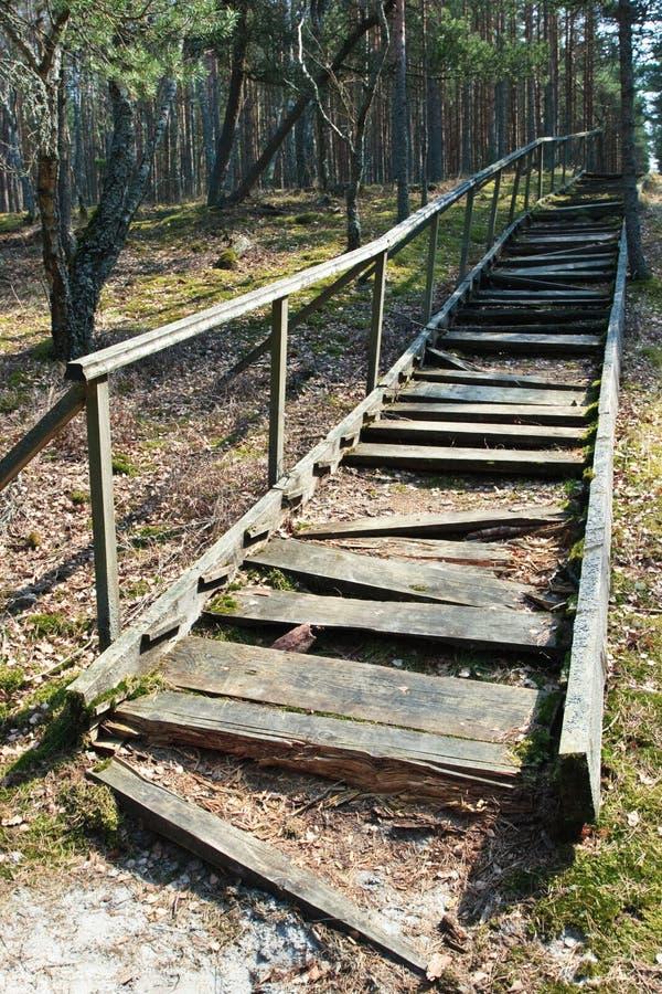 Escaleras quebradas foto de archivo