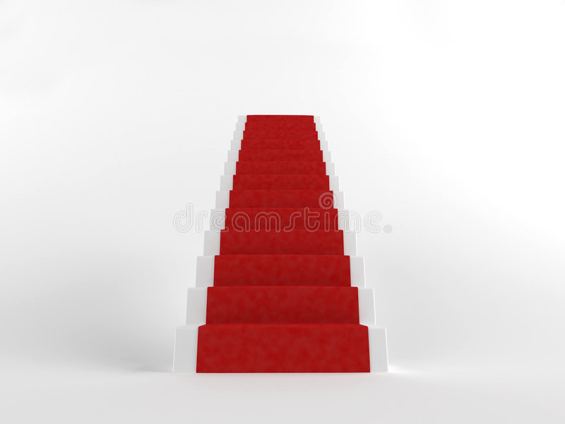 Escaleras rojas stock de ilustración