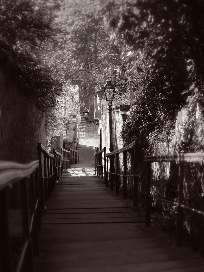 Escaleras Románticas Fotografía de archivo