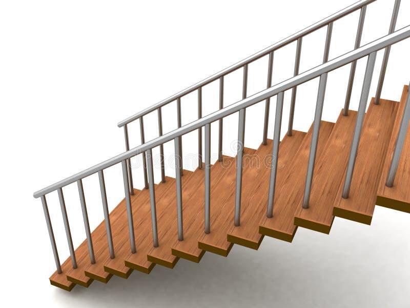 Escaleras tridimensionales aisladas ilustración del vector