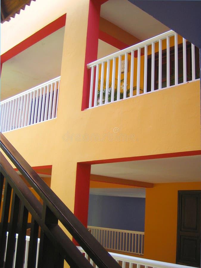Escaleras y balcones foto de archivo