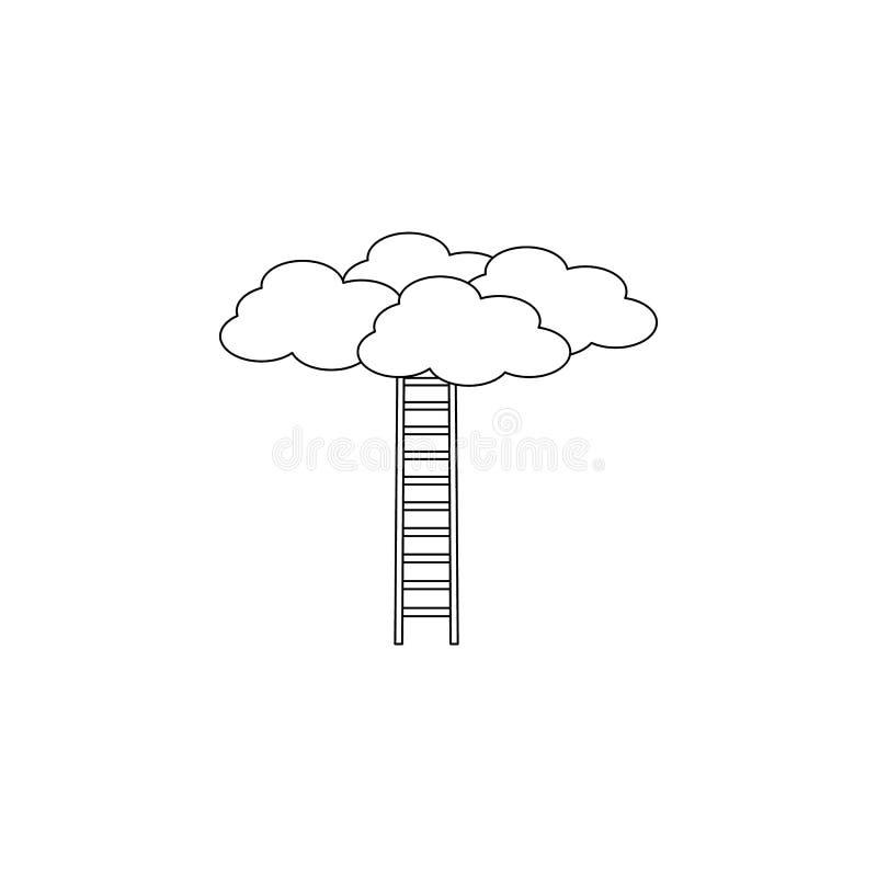 Escalier à l'icône de nuages Escaliers dans notre icône de la vie Conception graphique de qualité de la meilleure qualité Signes, illustration libre de droits