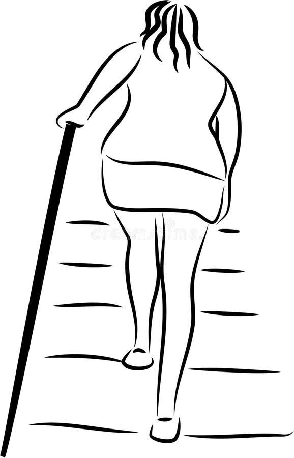 Escalier illustration libre de droits