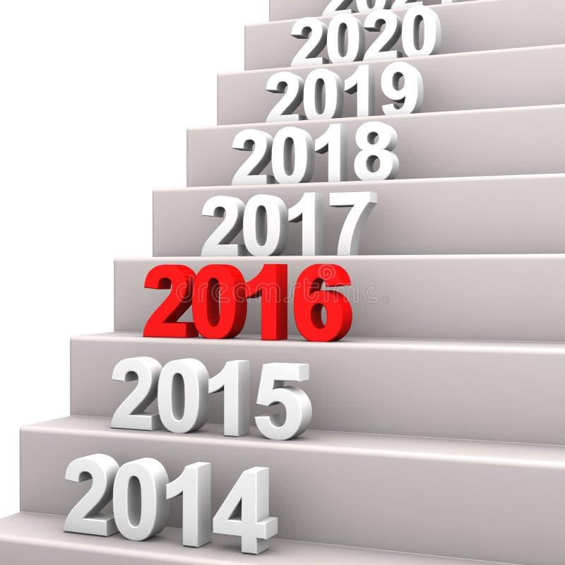 Escalier 2016 illustration de vecteur