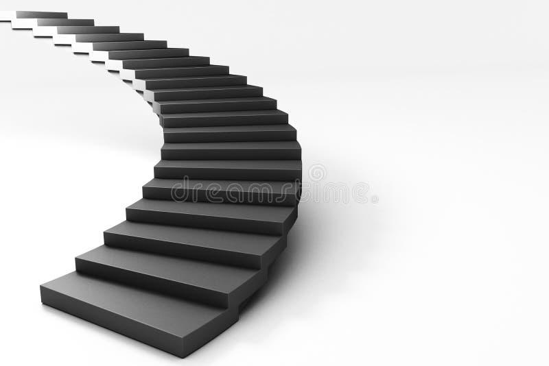 escalier 3d illustration libre de droits