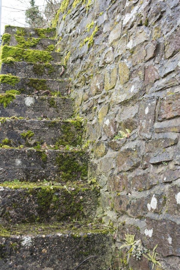 Escalier antique dans Zell image libre de droits