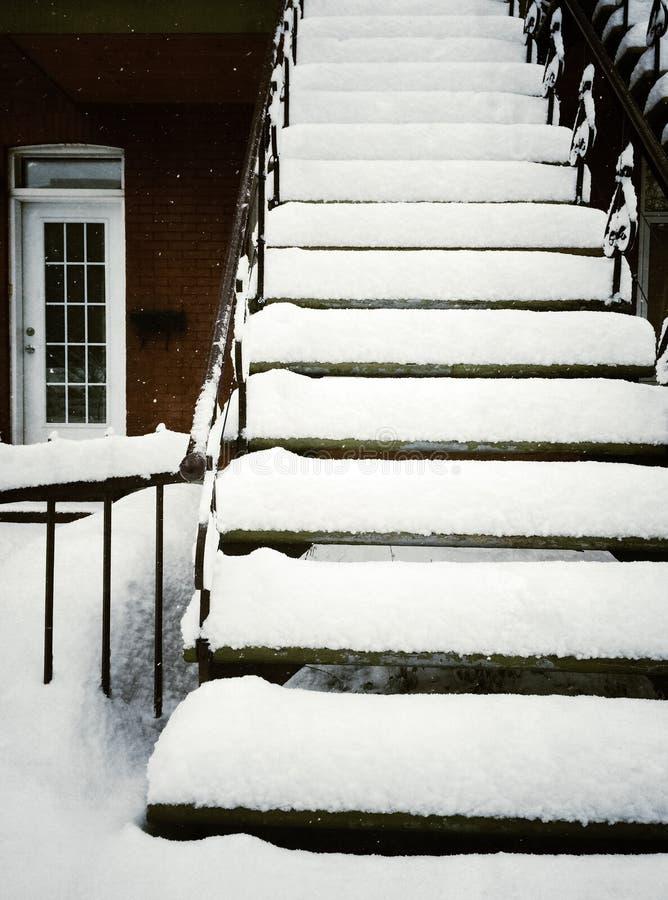 escalier apr s temp te de neige photo stock image 40298714. Black Bedroom Furniture Sets. Home Design Ideas