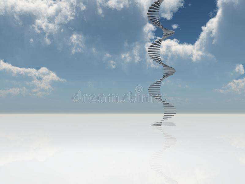 Escalier au ciel illustration libre de droits