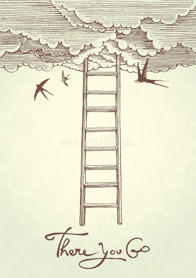 Escalier au ciel. illustration libre de droits