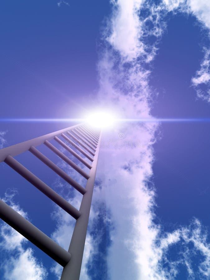 Escalier au ciel 45 illustration libre de droits