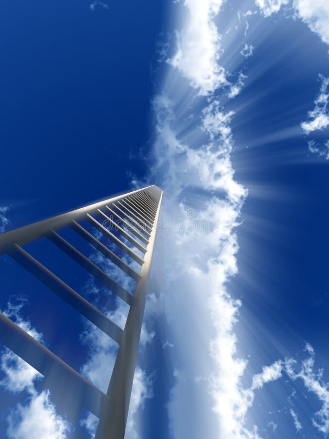 Escalier au ciel 49 illustration libre de droits