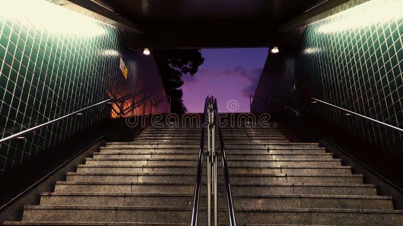 Escalier au pourpre images stock