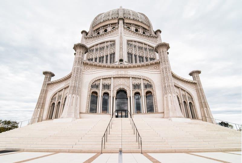 Escalier au temple de Baha'i image stock