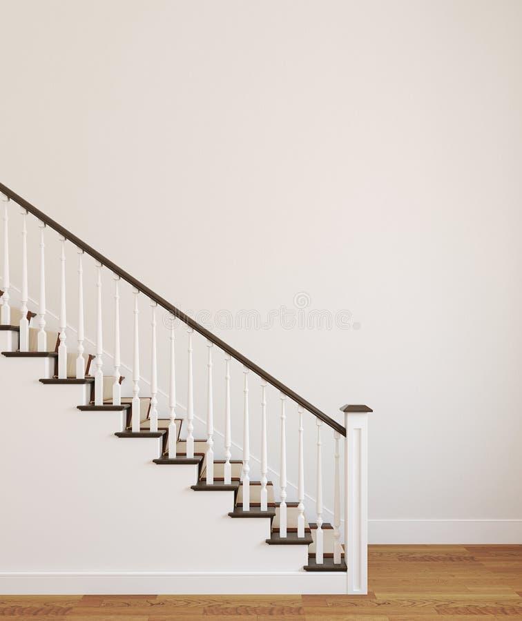 Escalier blanc. illustration de vecteur