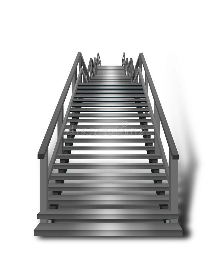 Escalier brillamment allumé images libres de droits