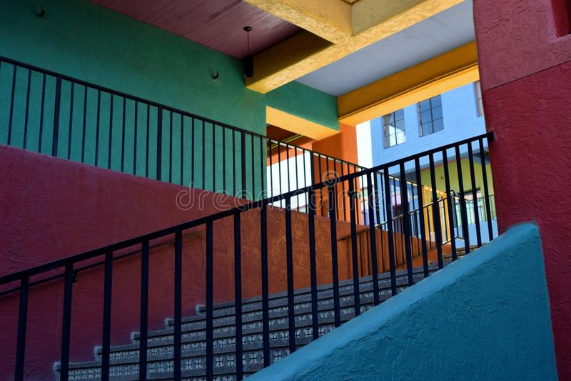 Escalier coloré de sud-ouest photographie stock libre de droits