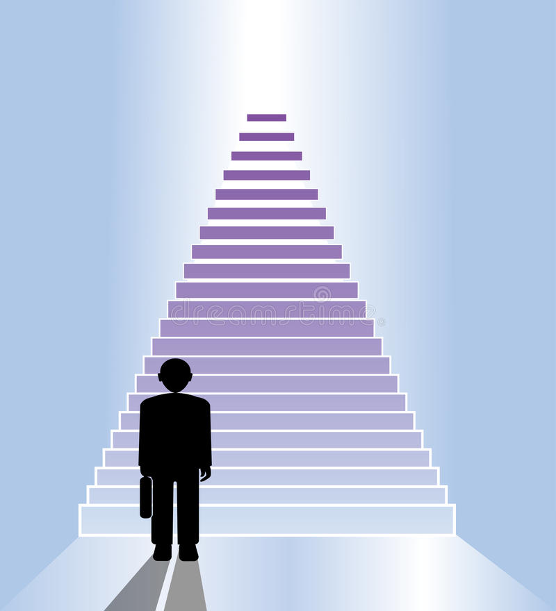 Download Escalier d'affaires illustration de vecteur. Illustration du bleu - 45368346