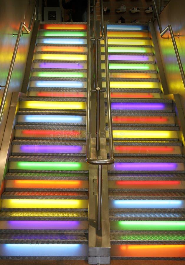 escalier d'escaliers au ciel image libre de droits