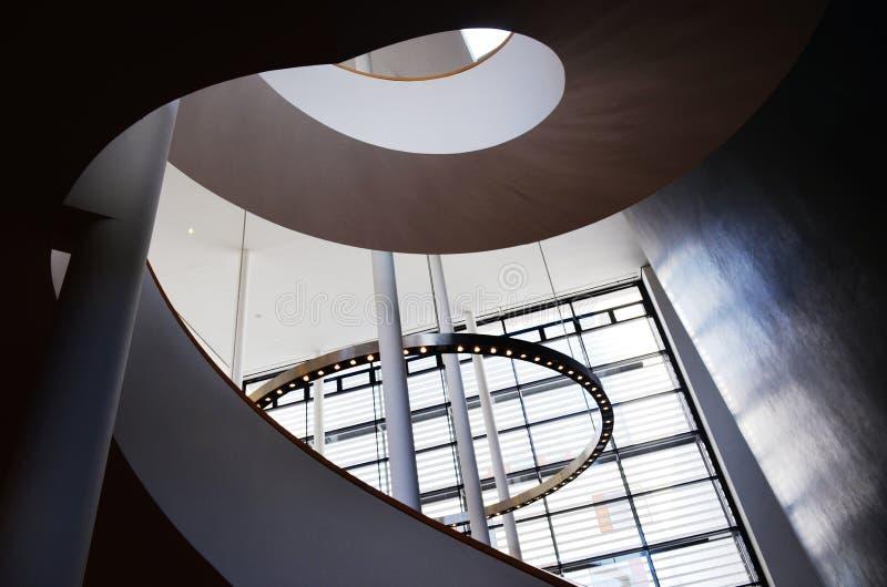 Escalier dans le théâtre d'Erfurt image libre de droits