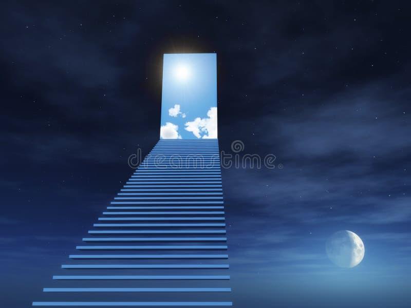 escalier de ciel à photographie stock libre de droits