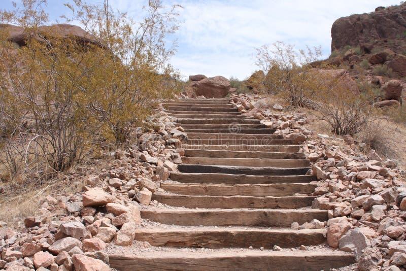 Escalier de désert photographie stock