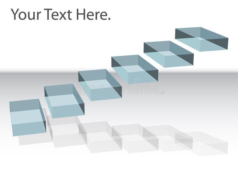 Escalier de flottement illustration stock