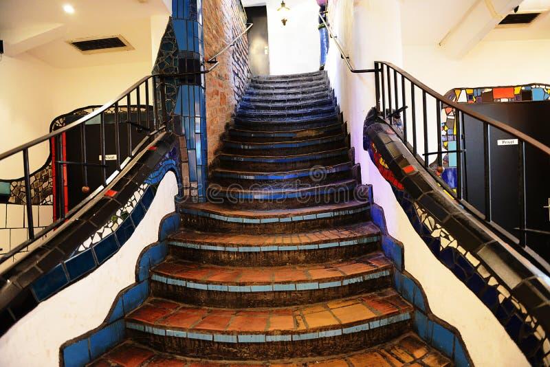 Escalier de Hundertwasser à Vienne image libre de droits