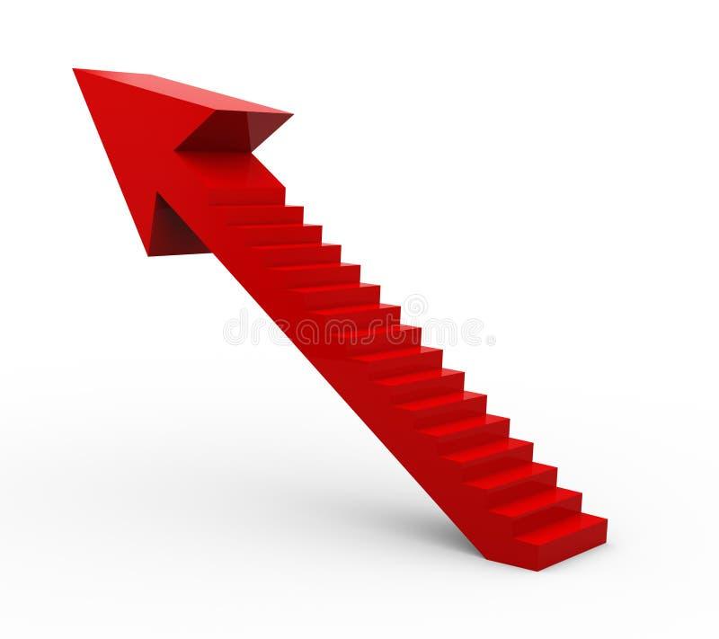 escalier de la flèche 3d illustration stock