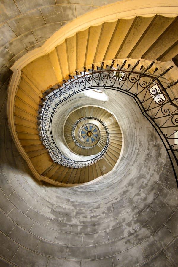 Escalier de la tour, basilique de Fourviere, Lyon, France photos stock