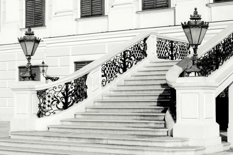 Escalier de palais de Schonbrunn, l'Europe photographie stock