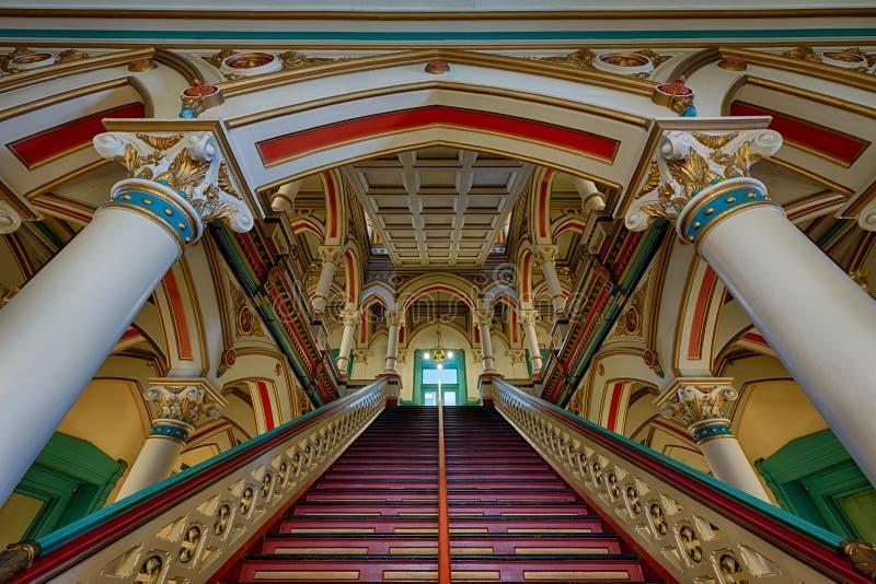 Escalier de Richmond Old City Hall photographie stock libre de droits